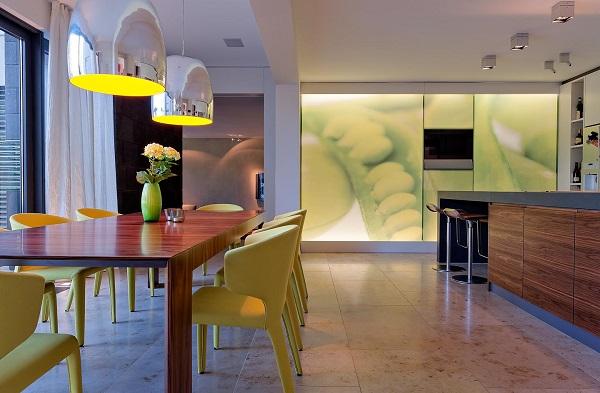 Naturstein in Küche und Esszimmer