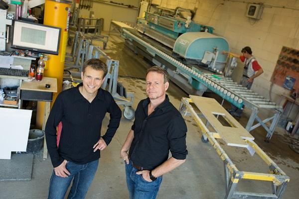 Roberto Hanser und Lutz Pfafferott, Geschäftsführer der Hanser + Pfafferott GmbH, Naturstein Handel und Handwerk